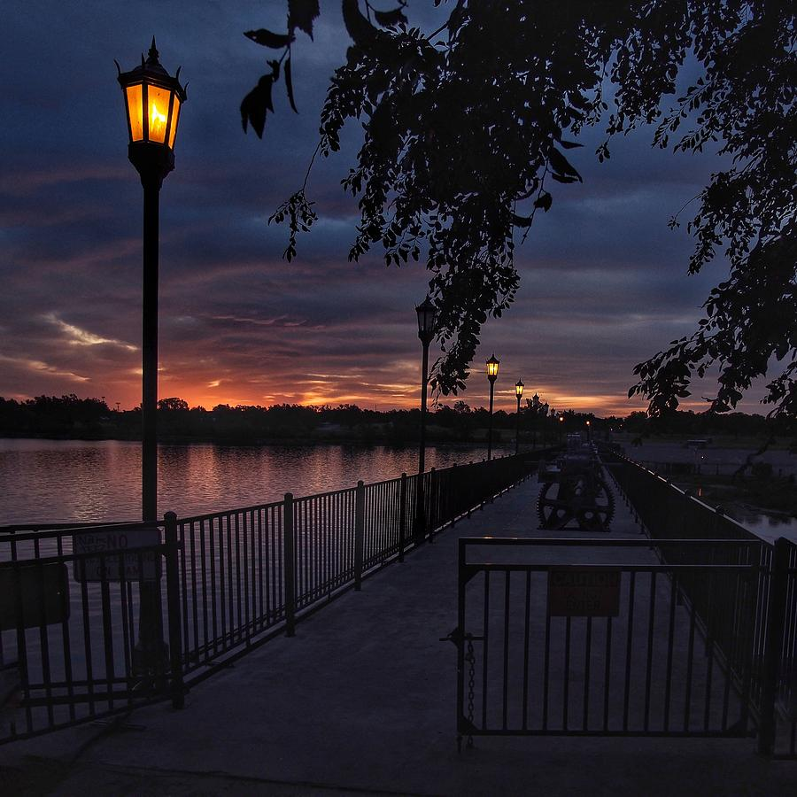 Lake Overholser Photograph - Squarely Into Sunup  by Buck Buchanan