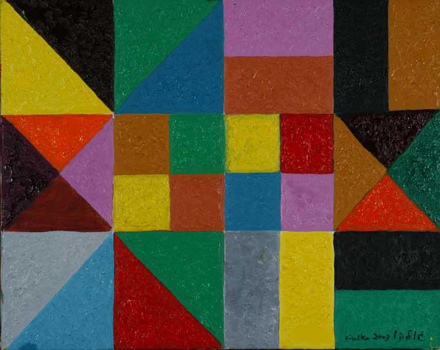 Squares and Triangles  Painting by Harris Gulko