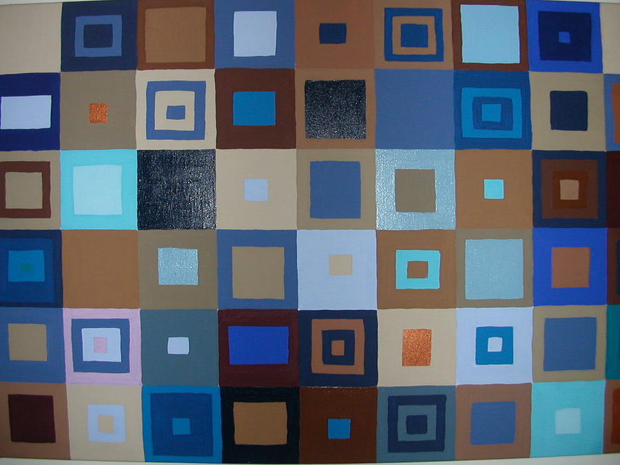 Squares Have It Painting by Gay Dallek
