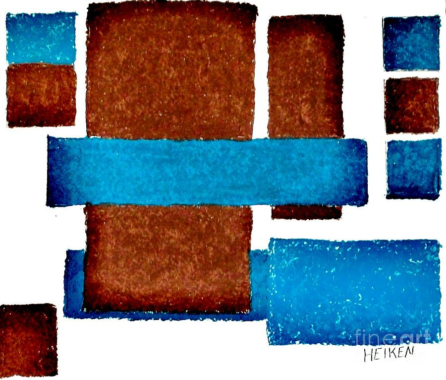 Oil Pastels Digital Art - Squares Long And Short by Marsha Heiken