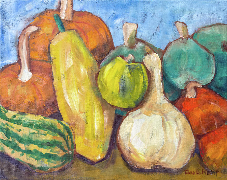 Eugene Painting - Squash Party by Tara D Kemp