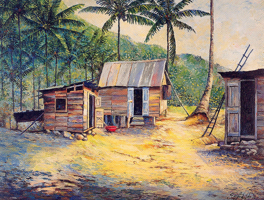 Country Painting - Squatters by Glenford John