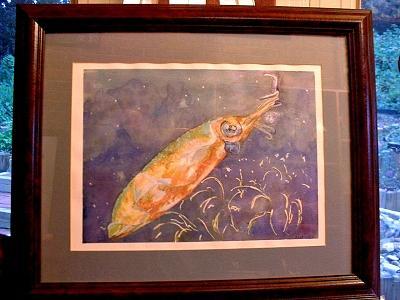 Squid Painting - Squid by Ladonna Idell