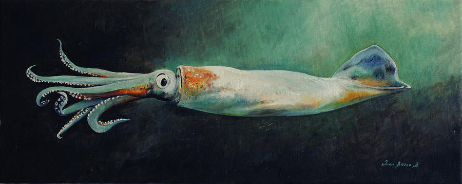 Squid Painting - Squid by Juan Bosco