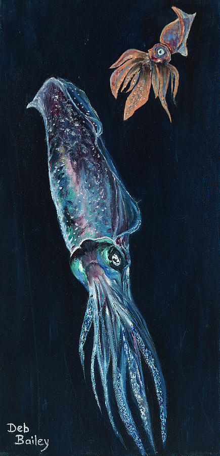 Squids of the depths by Debra Bailey