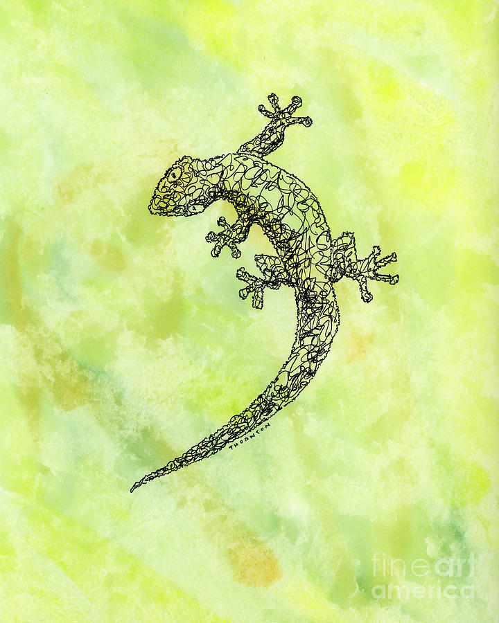 Squiggle Gecko by Diane Thornton