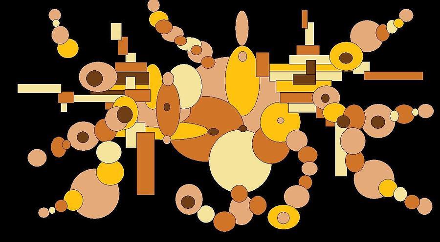 Digital Artwork Digital Art - Squiggly by Jordana Sands