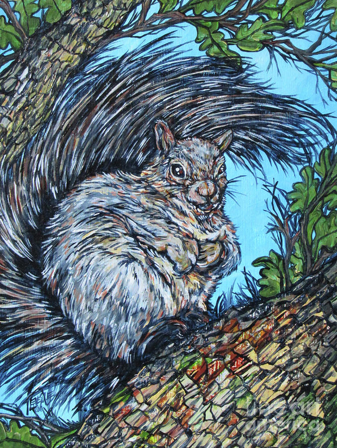 Squirrel in Tree by Tracy Levesque