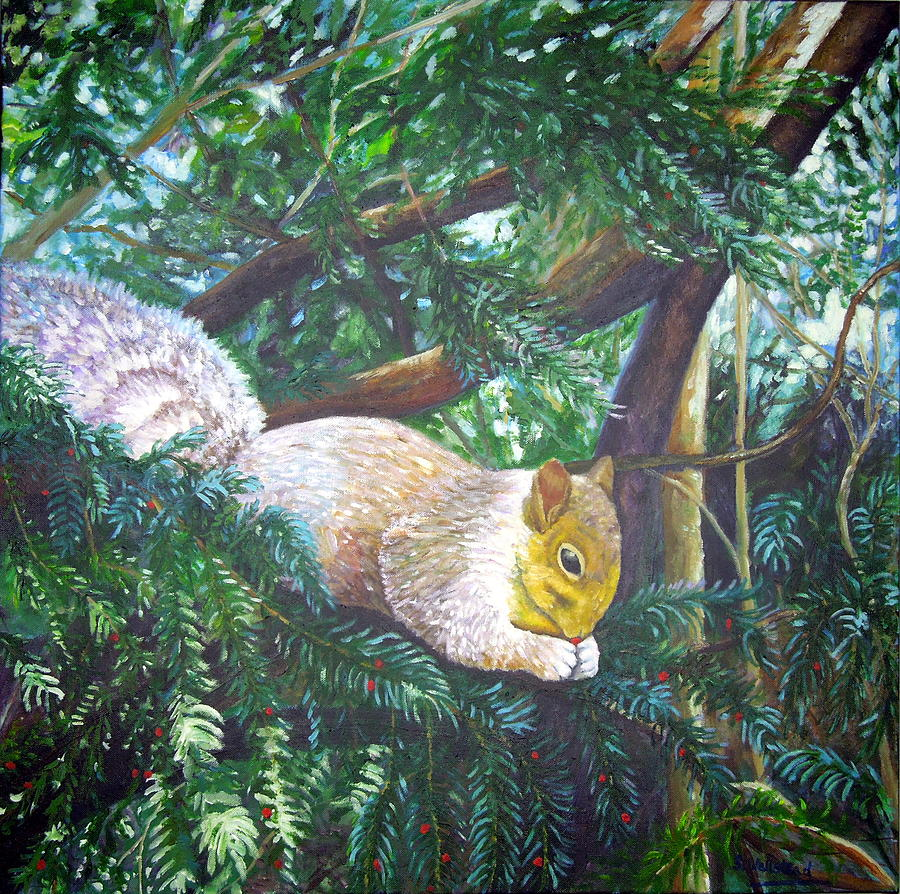Squirrel snacking by Shirley Wellstead