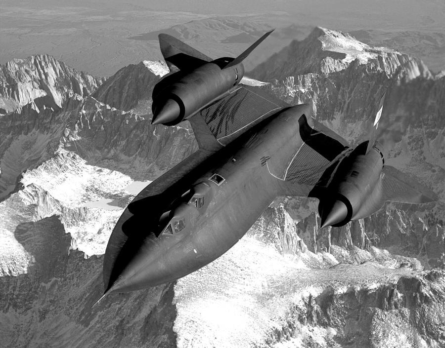 Aviation Photograph - Sr-71 Blackbird Flying by War Is Hell Store
