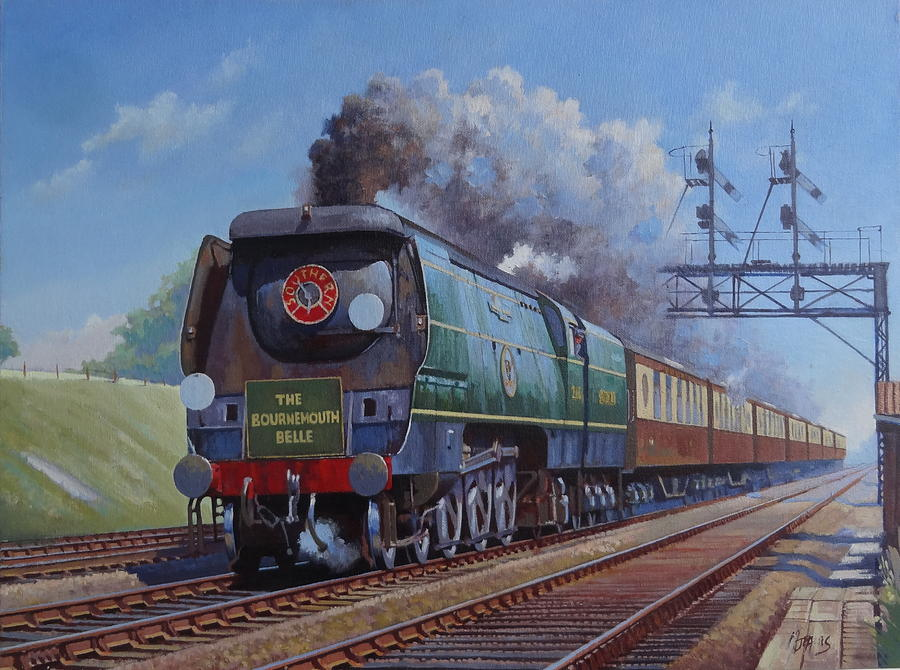 Pacific Painting - Sr Merchant Navy Pacific by Mike Jeffries