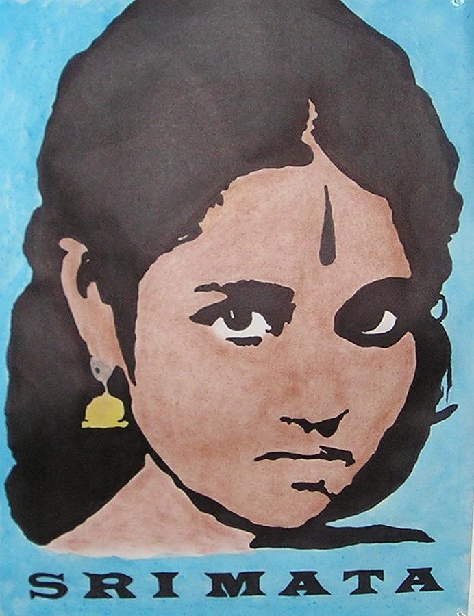 Sri Mata Drawing by Kenneth Regan