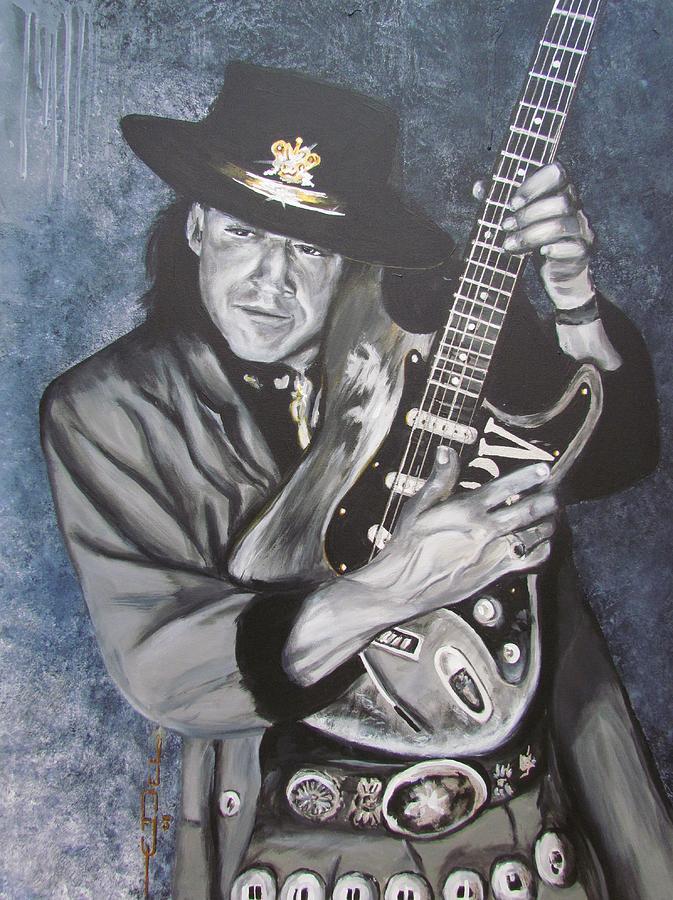 Stevie Ray Vaughan Painting - Srv - Stevie Ray Vaughan  by Eric Dee