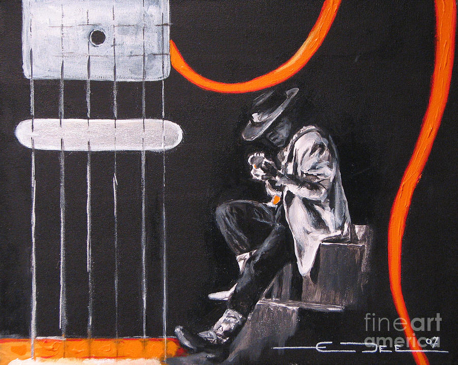 Stevie Ray Vaughn Painting - Srv - Stevie Ray Vaughn by Eric Dee