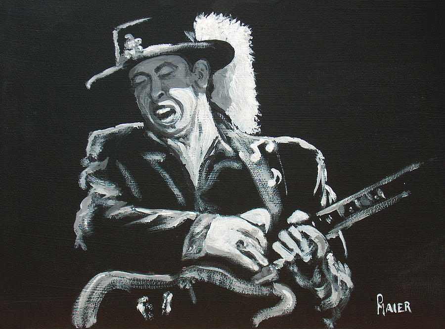 Bluesman Painting - SRV by Pete Maier