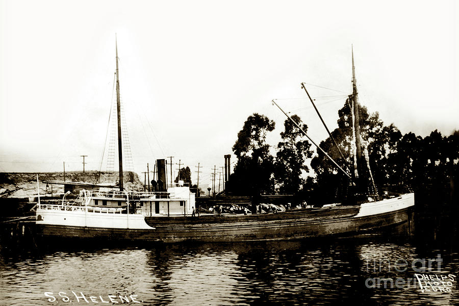 Helene Photograph - Steam Schooner Helene At San Padero by California Views Archives Mr Pat Hathaway Archives