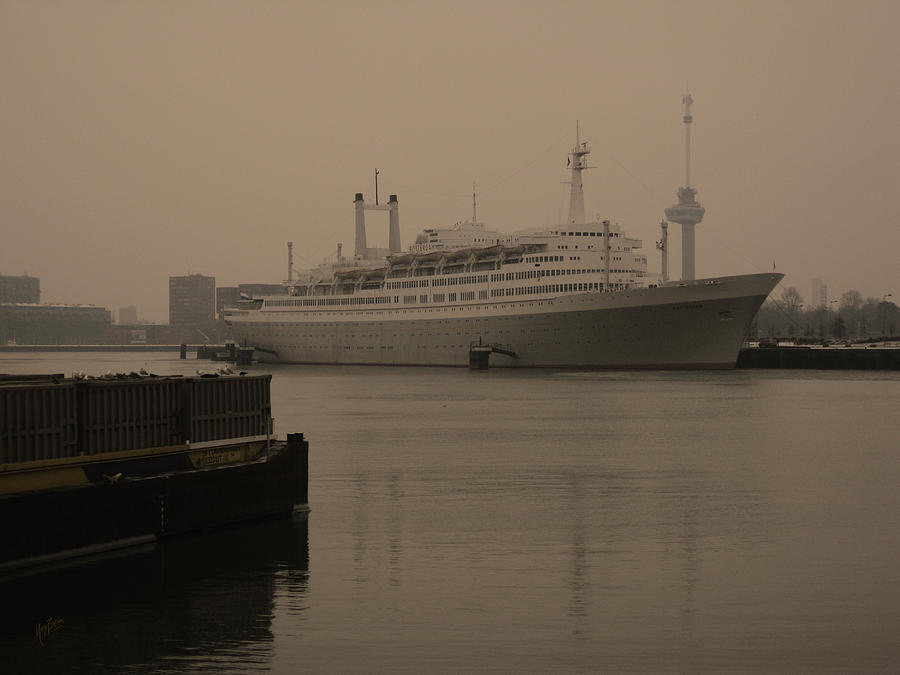 Ss Rotterdam Photograph - Ss Rotterdam Holland America Line by Nop Briex