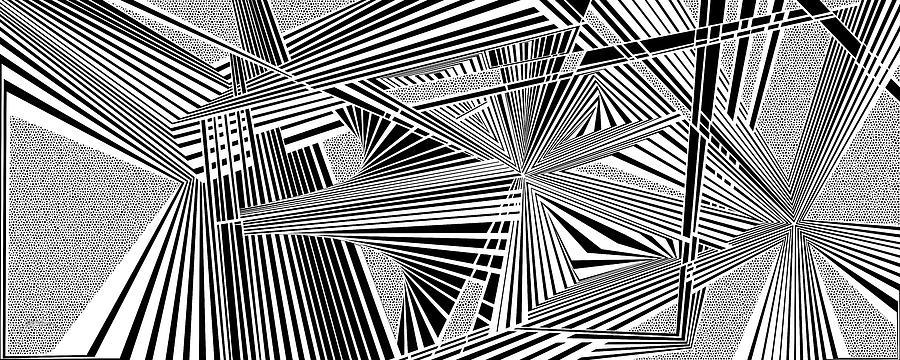Optical Illusion Digital Art - Ssenkcalbot by Douglas Christian Larsen