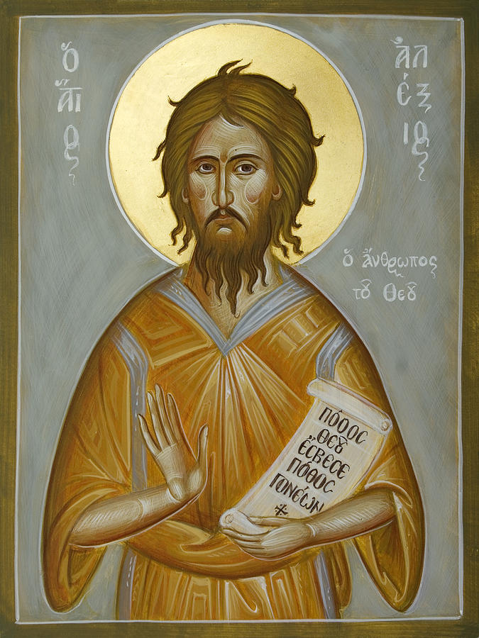 Icon Painting - St Alexios The Man Of God by Julia Bridget Hayes