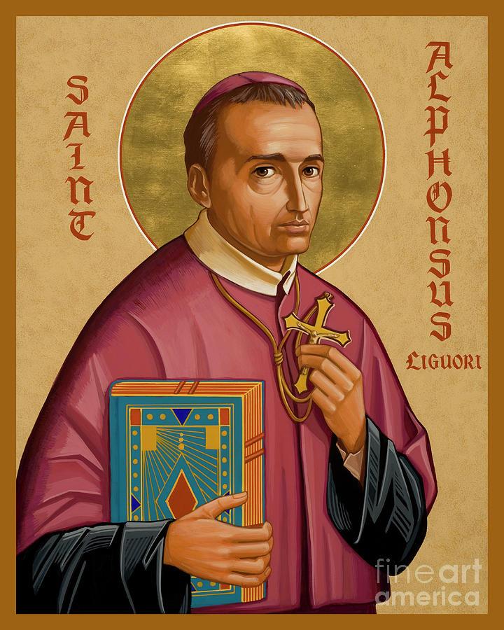 St. Alphonsus Liguori Painting - St. Alphonsus Liguori - Jcalp by Joan Cole