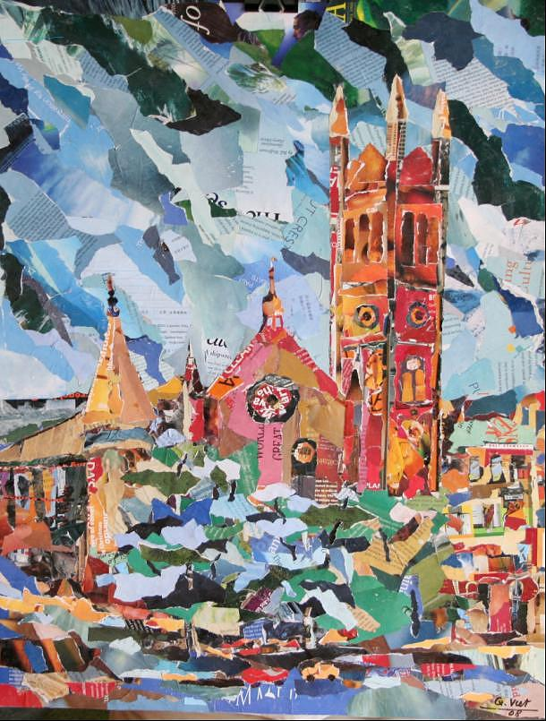 Church Mixed Media - St. Andrew Presbyterian Church At Douglas And Broughton  Victoria Bc  by Viet Tran