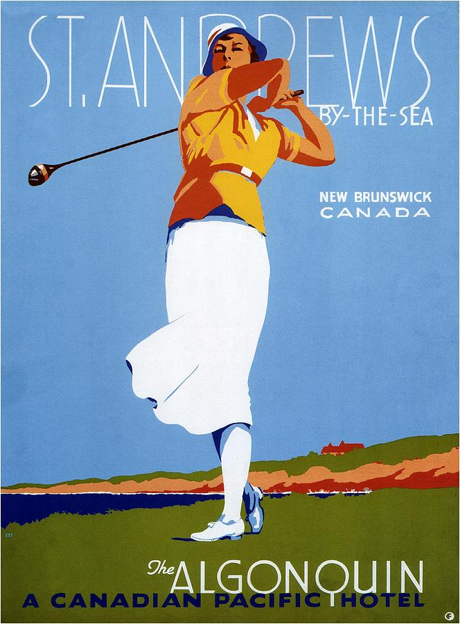 St Andrews By The Sea - Canadian Pacific Hotel - Retro Travel Poster - Vintage Poster Mixed Media