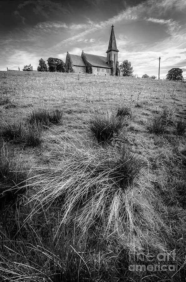 St Andrews Church In Blubberhouses Bw Photograph