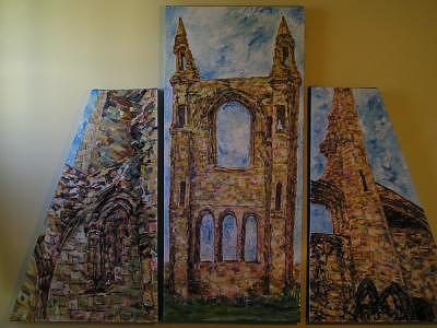 St Andrews Scotland Painting by Jacqueline Biggs