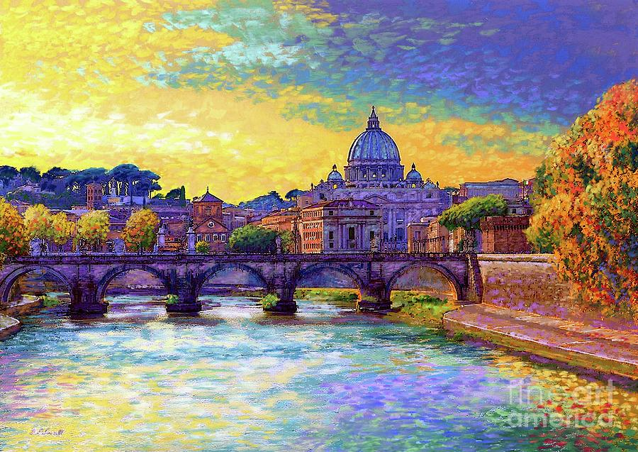 St Angelo Bridge Ponte St Angelo Rome Painting