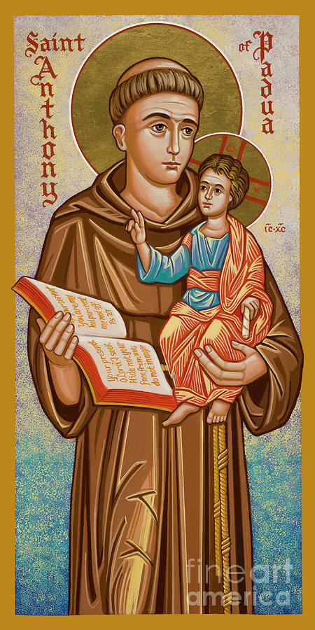 St. Anthony Of Padua Painting - St. Anthony Of Padua - Jcapa by Joan Cole