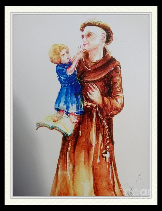 St Anthony Painting by Patricia Ducher