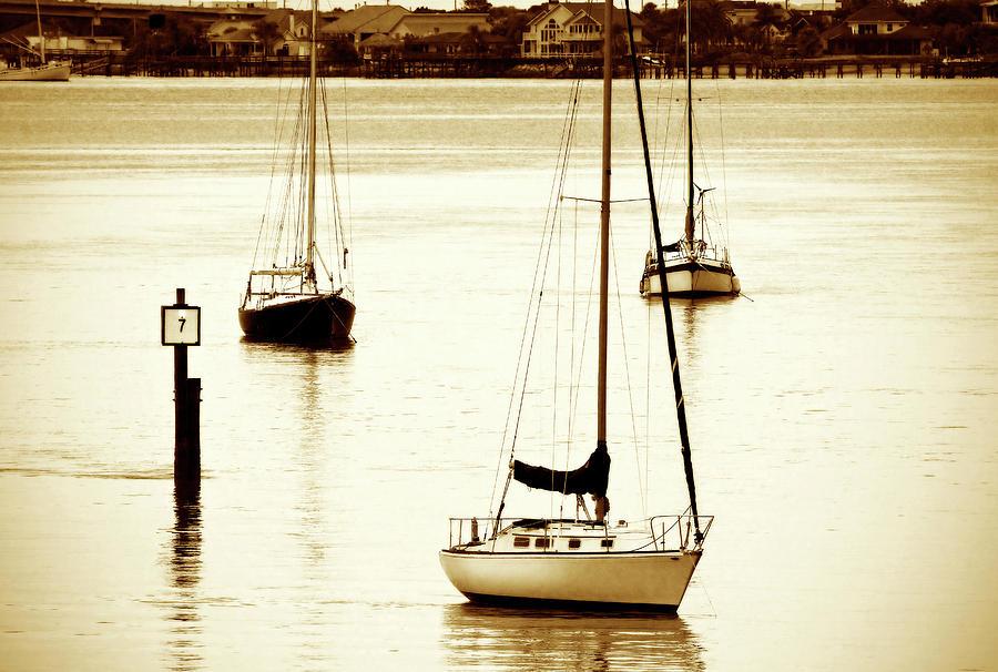 Photo Photograph - St. Augistine Harbor 2 by Alan Hausenflock