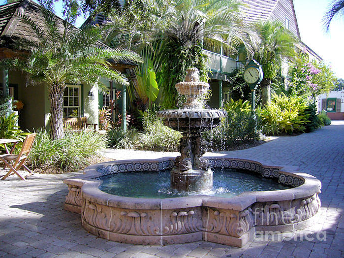 Fountain Photograph - St. Augustine Fountain by Barbara Oberholtzer