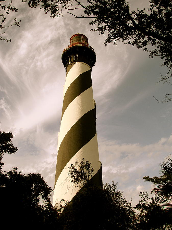 Lighthouse Photograph - St. Augustine Light House by Kimberly Camacho