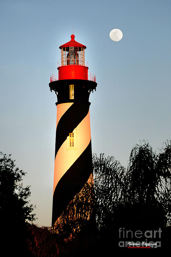 Lighthouse Painting - St. Augustine Lighthouse by Addison Fitzgerald