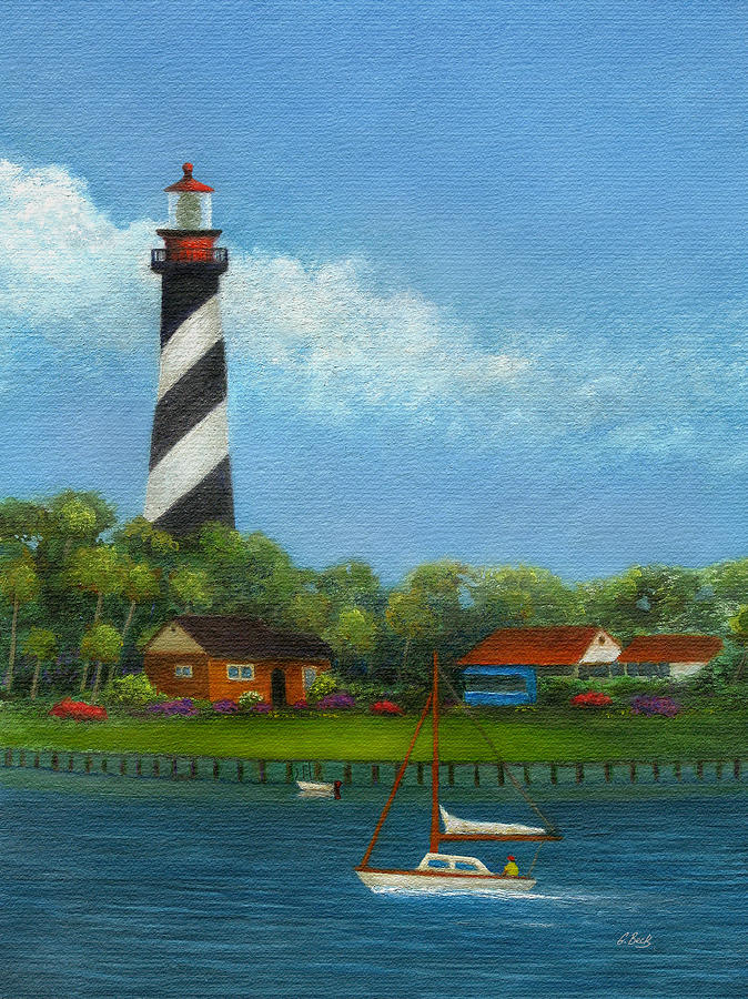 St Augustine Lighthouse Painting By Gordon Beck