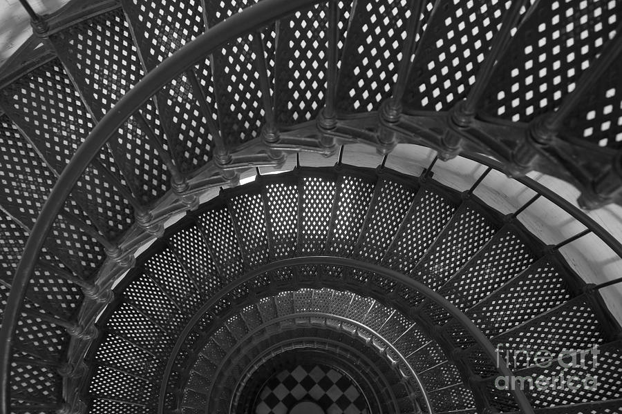 Clarence Holmes Photograph - St. Augustine Lighthouse Spiral Staircase I by Clarence Holmes