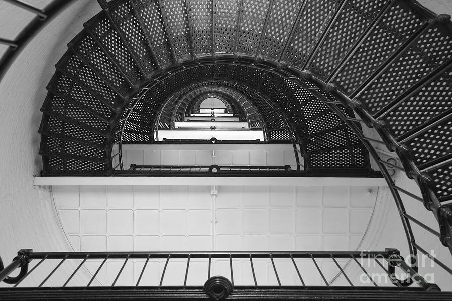 Clarence Holmes Photograph - St. Augustine Lighthouse Spiral Staircase IIi by Clarence Holmes