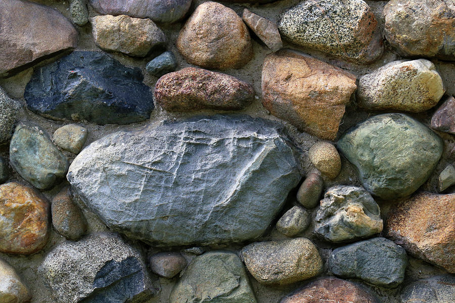 Church Photograph - St. Augustine Stone Wall 2 090118 by Mary Bedy