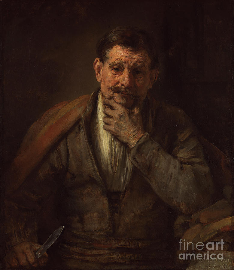 Famous Painting - St. Bartholomew By Rembrandt Harmensz. Van Rijn by Esoterica Art Agency