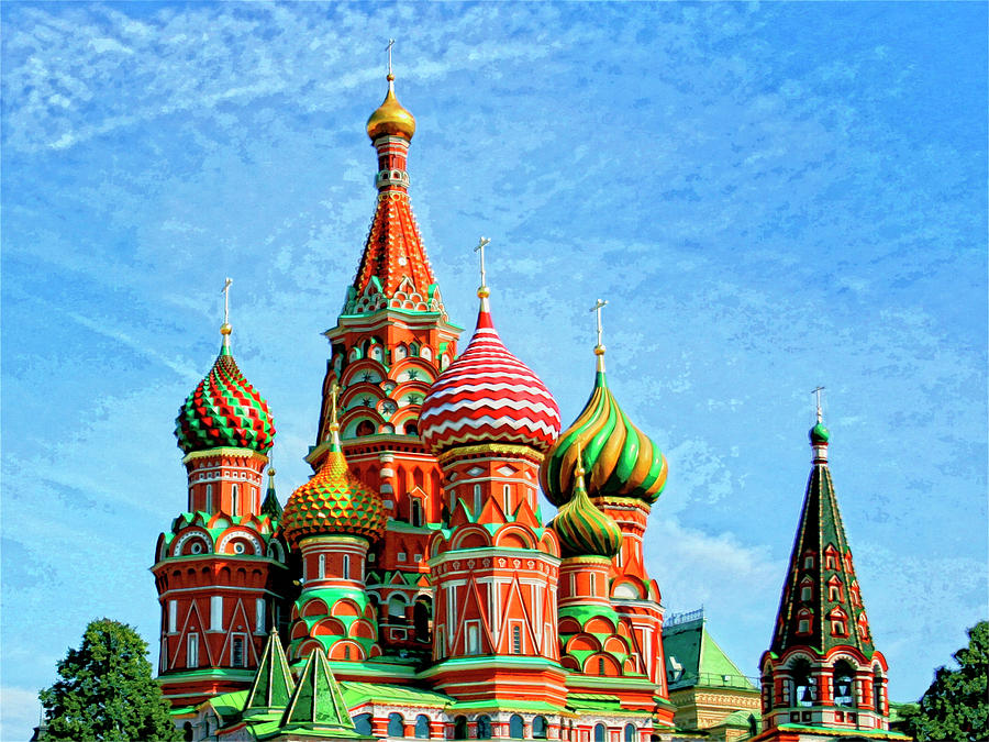 Lovely St. Basilu0027s Cathedral Mixed Media   St. Basils Cathedral Moscow By Dominic  Piperata
