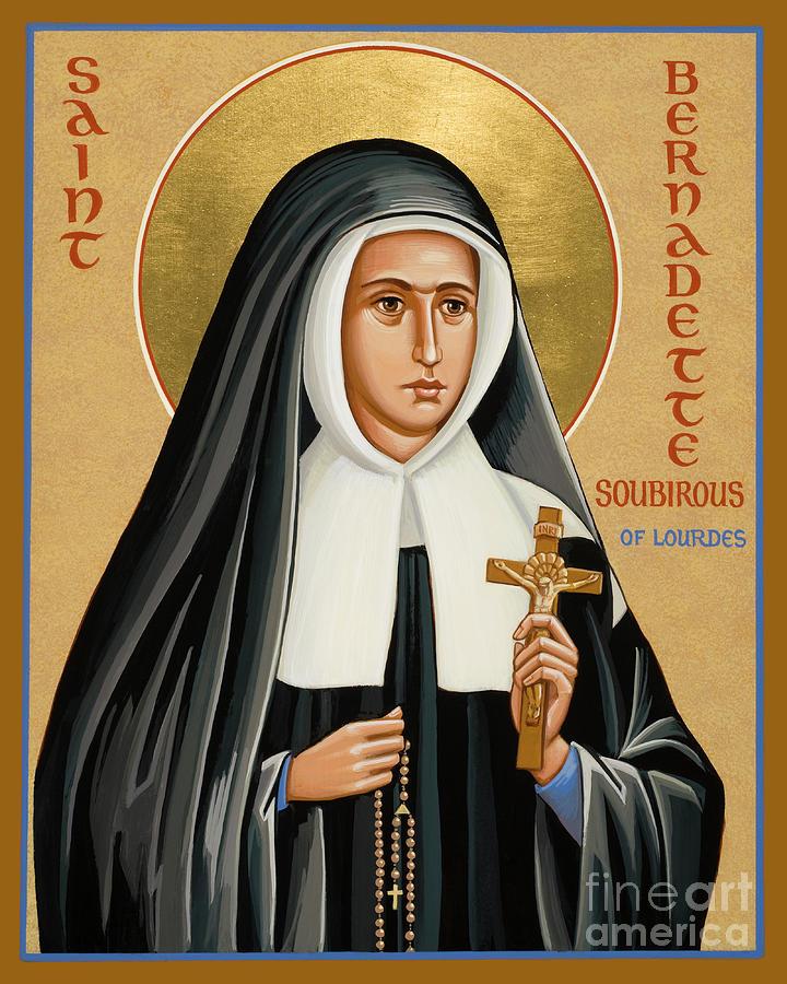 St. Bernadette Of Lourdes Painting - St. Bernadette Of Lourdes - Jcbsl by Joan Cole