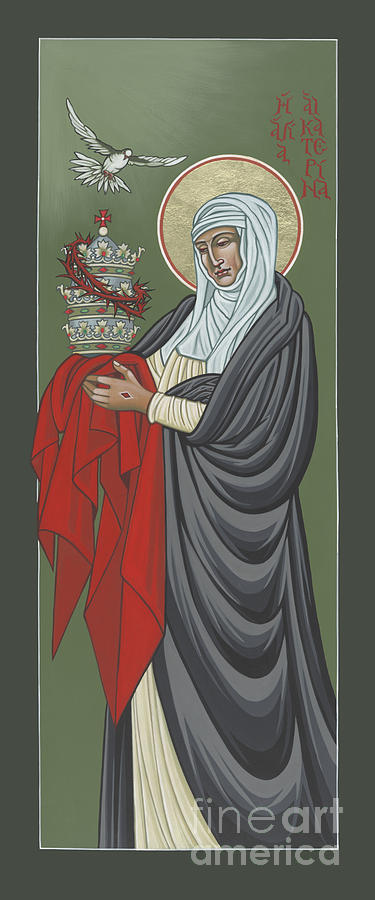 Iconography Painting - St Catherine of Siena- Guardian of the Papacy 288 by William Hart McNichols