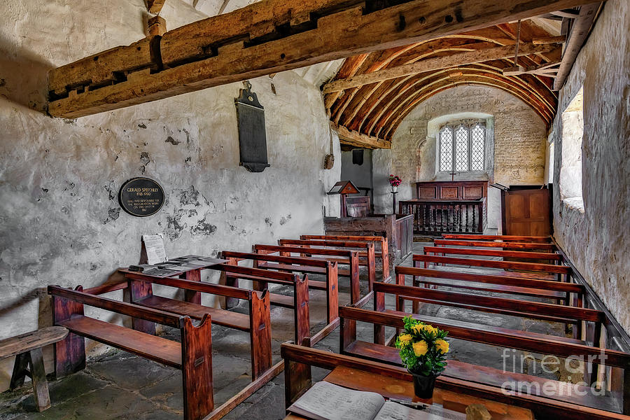 Welsh Church Photograph - St Celynnin Church  Interior by Adrian Evans
