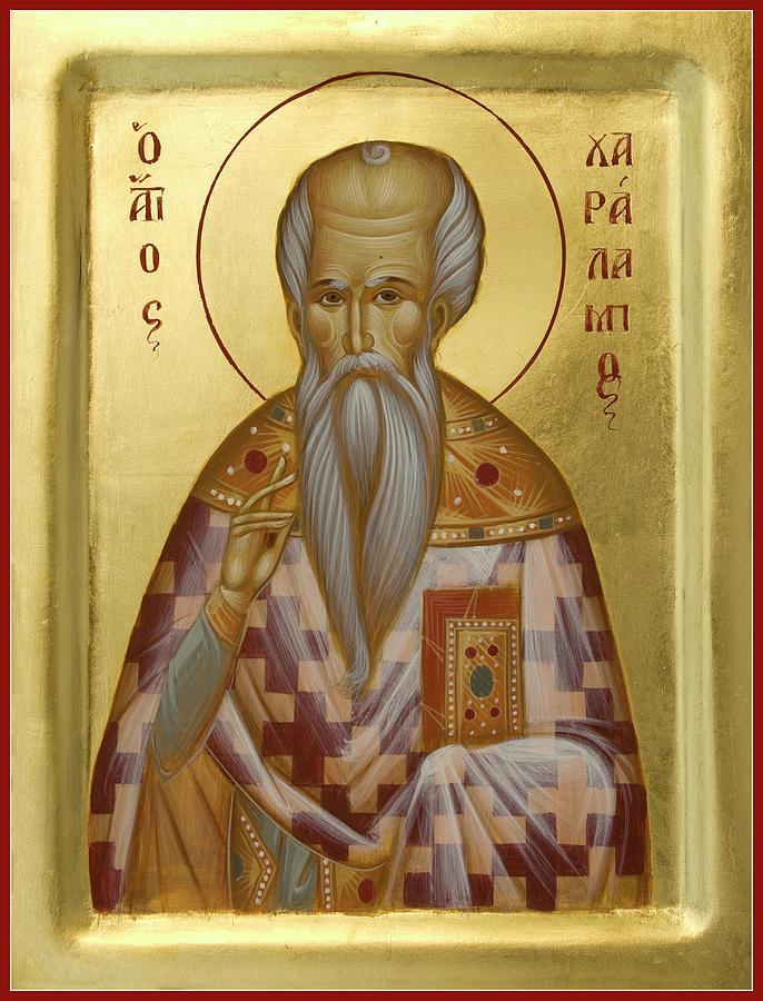 Saint Haralambos Painting - St Charalambos by Julia Bridget Hayes