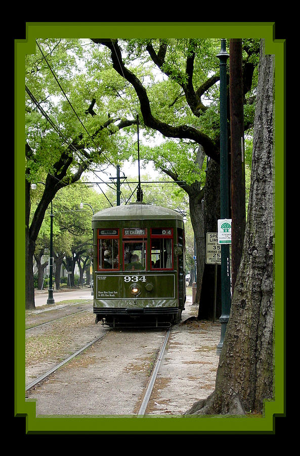 New Orleans Photograph - St. Charles Street Car by Linda Kish