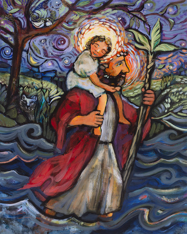 St Christopher Painting By Jen Norton