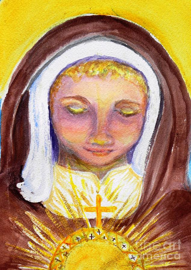 Religious Art Painting - St. Clare by Susan  Clark
