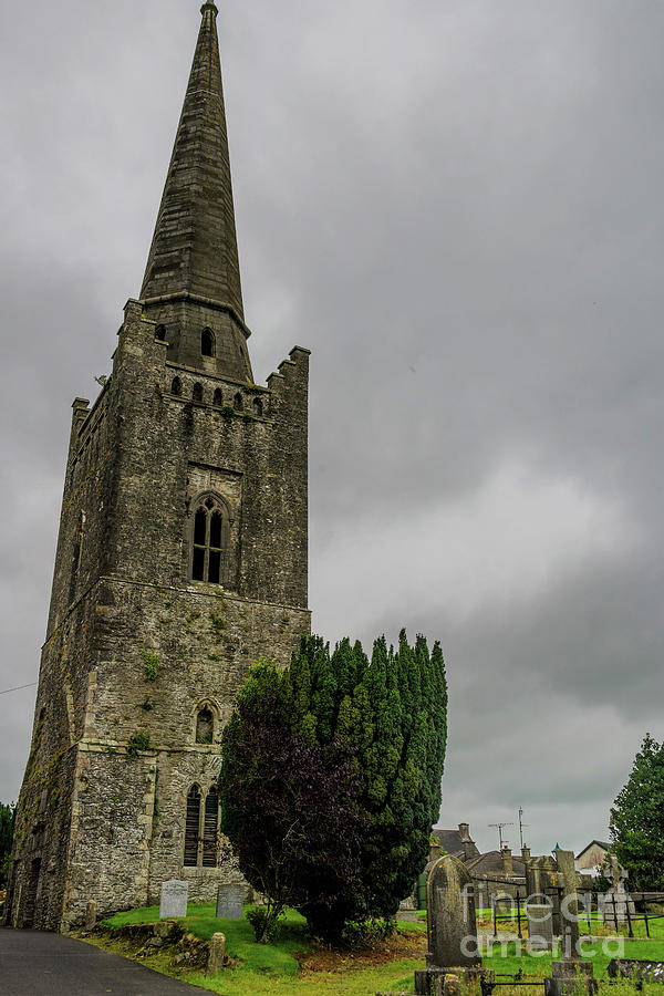 St Columbia's Bell Tower, Kells, Ireland by Elvis Vaughn