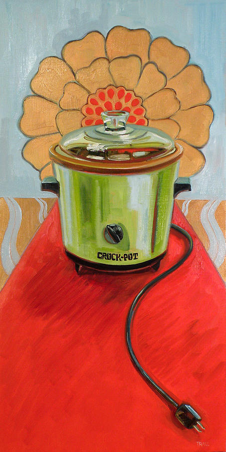 Vintage Painting - St. Crock Pot of the Red Carpet by Jennie Traill Schaeffer